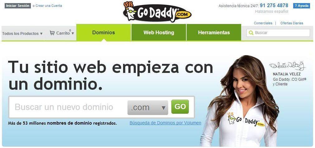 Comprar Dominio Análisis de Go Daddy