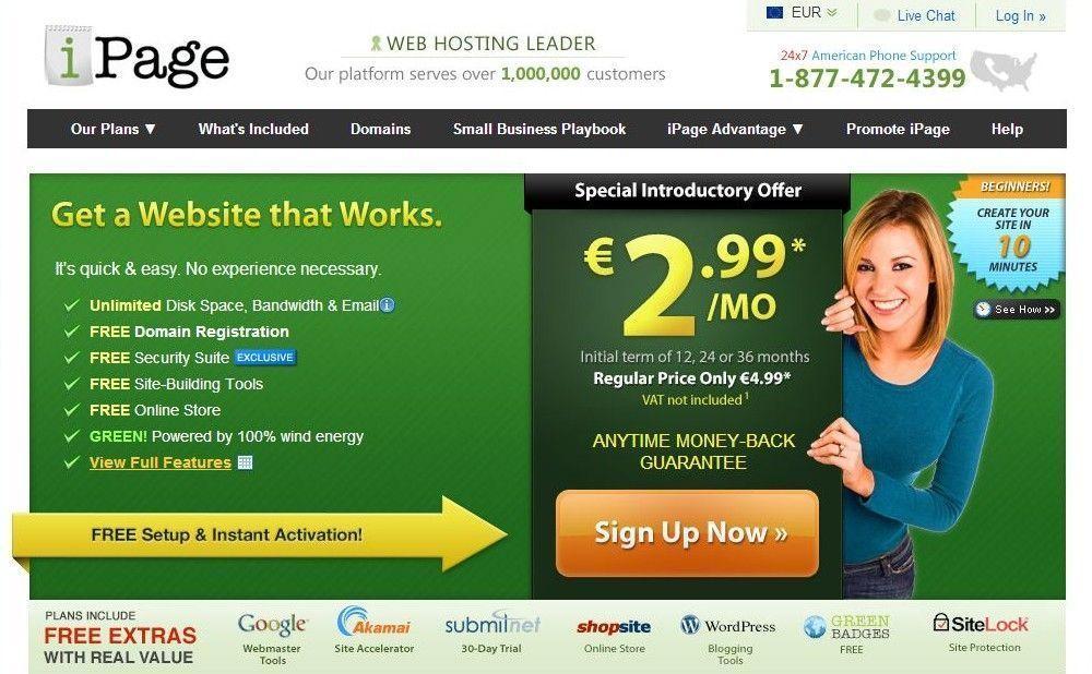Comprar dominio en Ipage