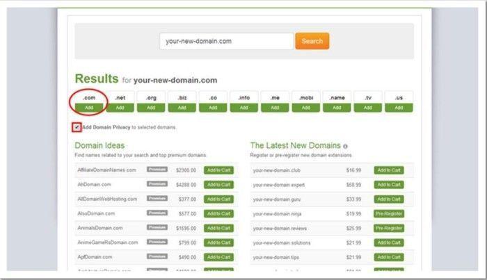 Comprar dominios en Ipage