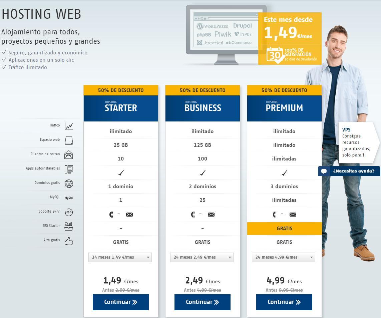 Adquirir dominios y hosting en Host Europe