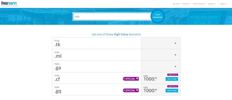 Dominios Gratis para su Registro - dominios gratis para paginas web - dominio totalmente gratis