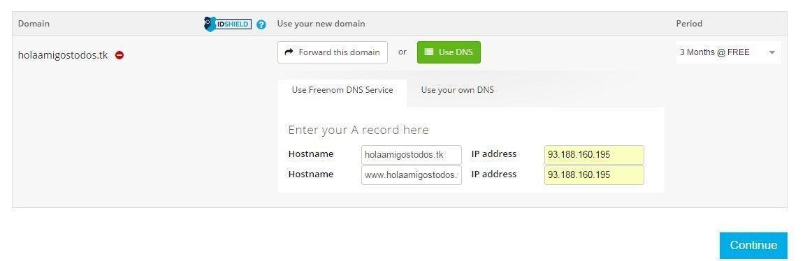 Nuestro dominio gratis y su registro - hosting y dominio gratis