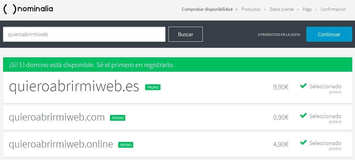 Registrar Dominios Genéricos
