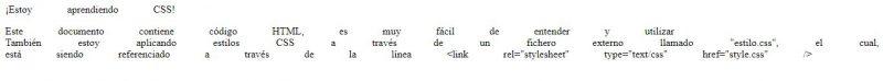 aprendiendo css en español